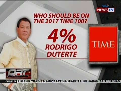 QRT: Pangulong Duterte, nanguna sa Time magazine poll