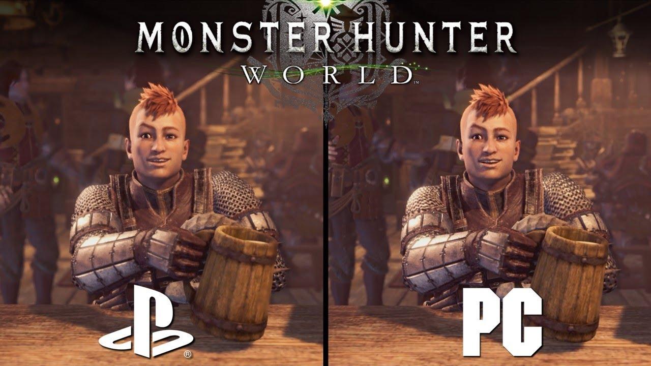 Monster Hunter World PC vs PS4   Direct Comparison