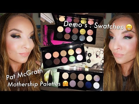 Pat McGrath Labs Mothership Totale: I Subliminal, II Sublime, III Subversive: Demo's : Swatches