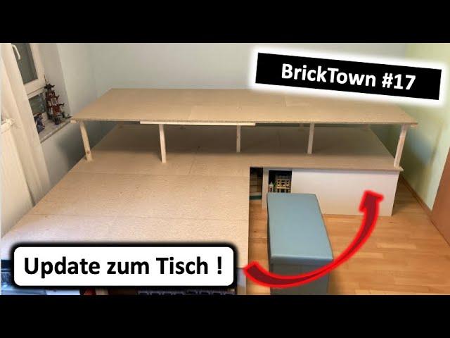 Lego-Stadt-Tisch mit Erhöhung! - BrickTown 17