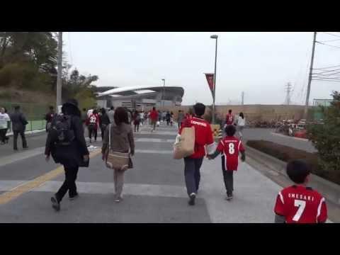 Walking to Saitama Stadium