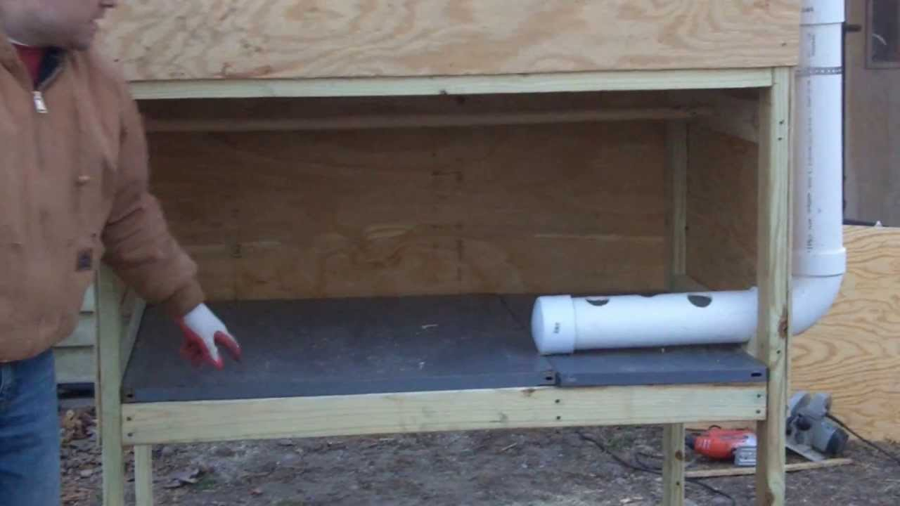 Easy Clean Chicken Coop DIY - YouTube