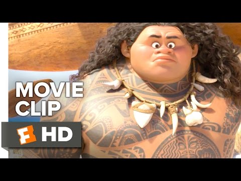 Moana Movie CLIP - Moana Meets Maui (2016) - Dwayne Johnson Movie