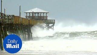 Stormy seas pummel Atlantic Beach as Florence hits North Carolina
