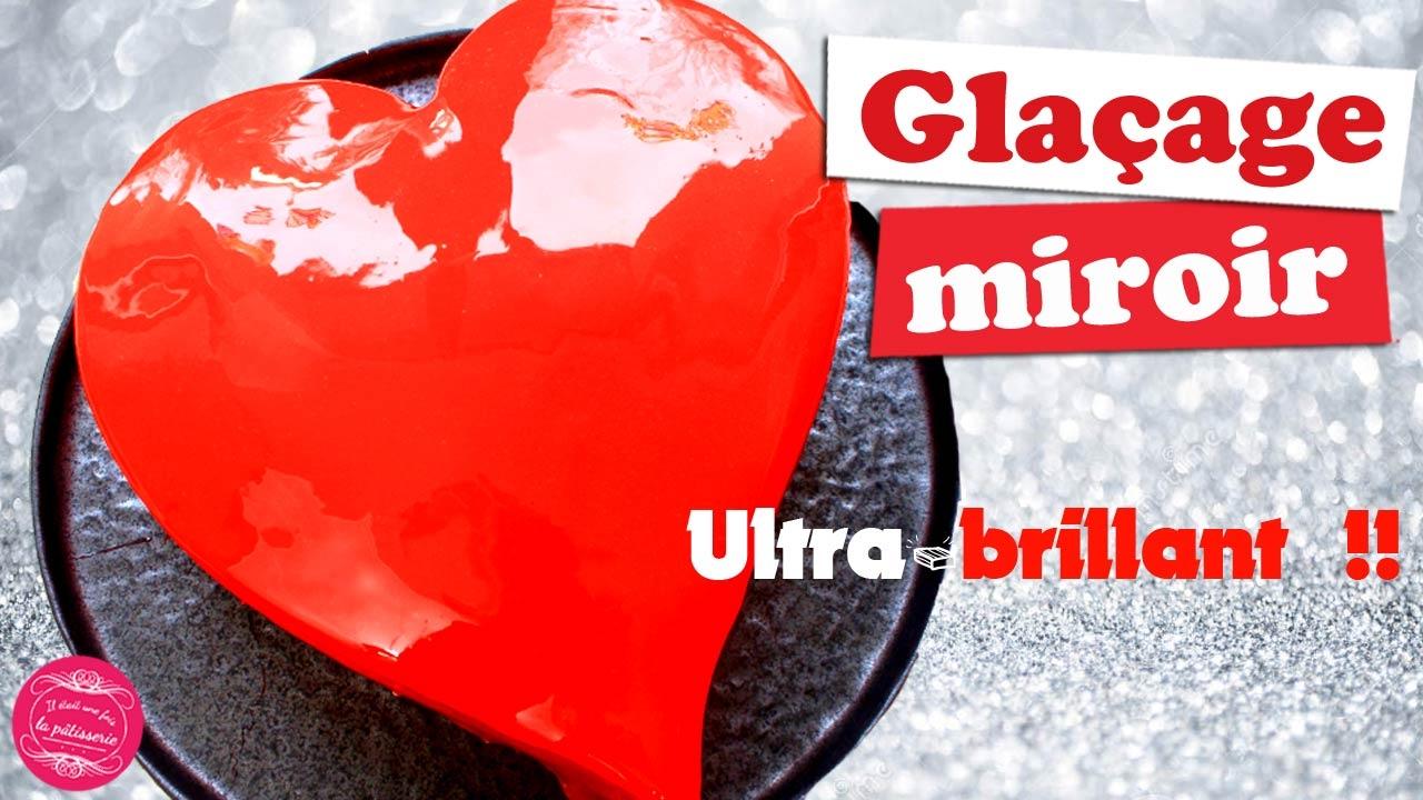 Gla age miroir ultra brillant pour vos entremets youtube for Glacage miroir rouge