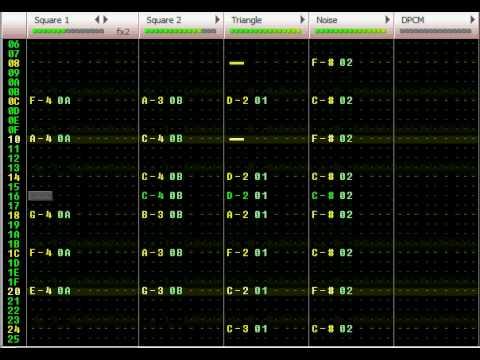 Famitracker - Tetris Theme A by 8BitDanooct1
