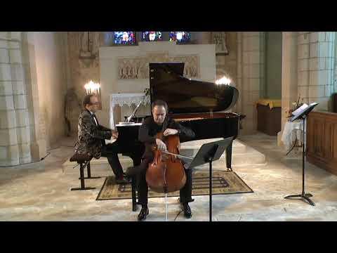 Brahms cello sonata (violin sonata arranged) Schubert Arpeggione Henri Demarquette Frédéric Chaslin