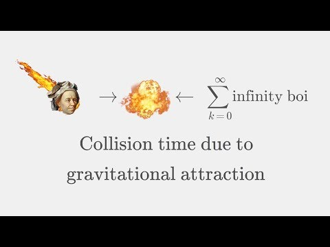 Gravitational Attraction: Time it takes for 2 objects to collide in free space