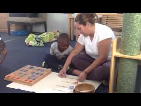 Montessori lesson moveable alphabet