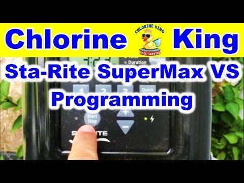 How To: Sta-Rite SuperMax VS Programming Variable Speed Pump - Chlorine King