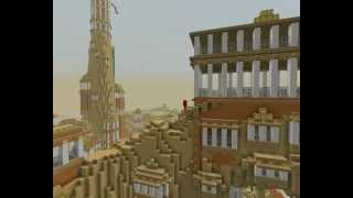 "Minecraft - city inspired by ""Journey"""