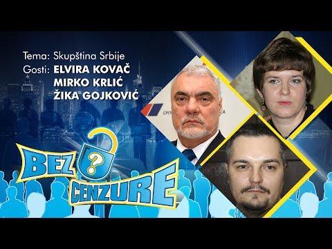 BEZ CENZURE: Skupština Srbije - Elvira Kovač, Mirko Krlić i Žika Gojković