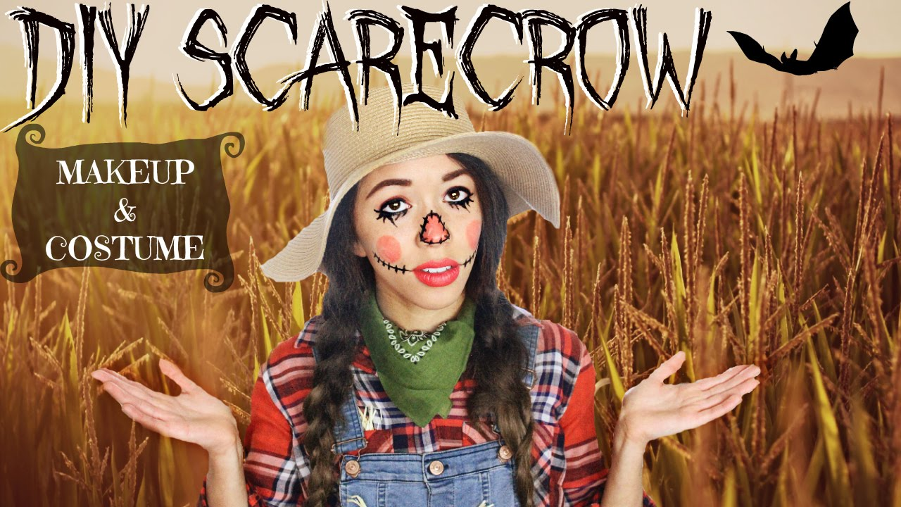 Halloween Scarecrow! | Makeup & DIY Costume! - YouTube