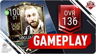 Fifa mobile i got 100 higuain #fifamobile 125 overall gameplay vs 136 rated team