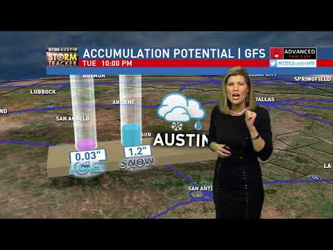 Winter Storm Forecast - 10pm January 15th, 2018 CBS Austin News