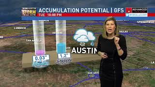 Winter Storm Forecast - 10pm January 15th, 2018 CBS Austin News