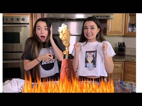 WE MADE A VOLCANO LIVE - Merrell Twins Live