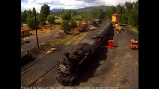 7/4/2018 Seven car train 215 arrives in Chama, NM