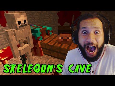 SkeleGUN's CAVE Custom Minecraft Horror Map NikNikamTV Jump Scares