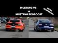 Mustang Ecoboost vs V8 Sound Comparison