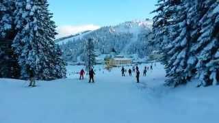kar manzarası eşliğinde uludağ