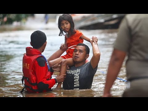 Indonesia Jakarta flooded as torrential rain triggered landslides in neighboring