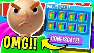 *NEW* BALDI'S BASICS IS HERE!! BALDI TRIES TO STEAL BULLIES SECRET PETS! ROBLOX BUBBLEGUM SIMULATOR