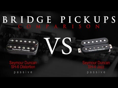 SEYMOUR DUNCAN SH6 DISTORTION vs SH4 JB - Passive Bridge Pickup Guitar Tone Comparison / Review