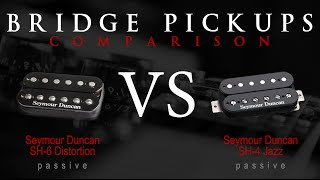SEYMOUR DUNCAN SH6 DISTORTION vs SH4 JB - Passive Bridge Pickup Guitar Tone Comparison / Review