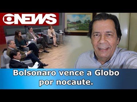 Bolsonaro vence a Globo em nocaute histórico.