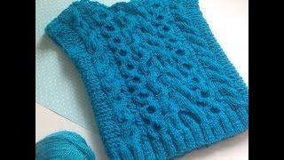 Вяжем детский свитер /безрукавку ( часть 2/ вырез горловины)