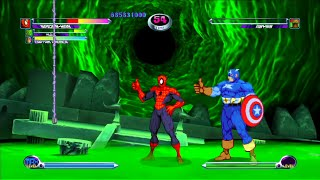 Marvel VS Capcom 2 - Spider-Man/Hulk/Captain America - Expert Difficulty Playthrough