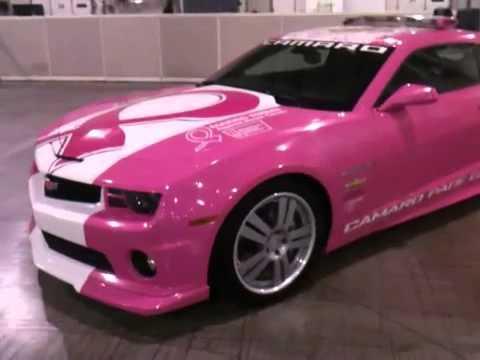 Pink Camaro Pace Car - YouTube
