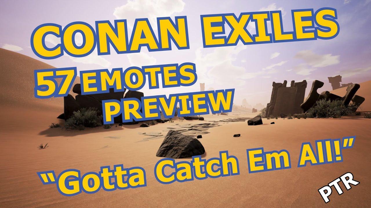 CONAN EXILES 57 EMOTES