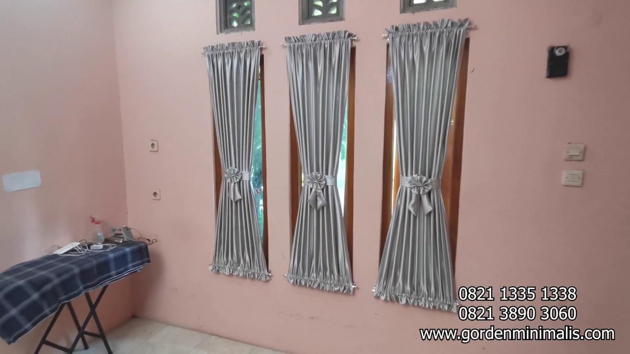 Gorden Rumah Minimalis Untuk Jendela Kecil Dan Gorden Pembatas Ruangan Youtube Model gorden jendela kecil minimalis