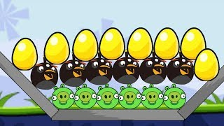 Angry Birds Bomb 1 - SKILL GAME PUT BOMBER BLAST PIGGIES OUT AND RESCUE EGG!