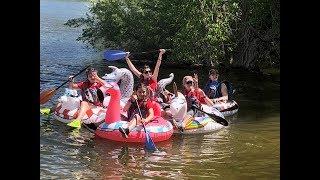 Utah Blind School students rafting at Adventure Camp!
