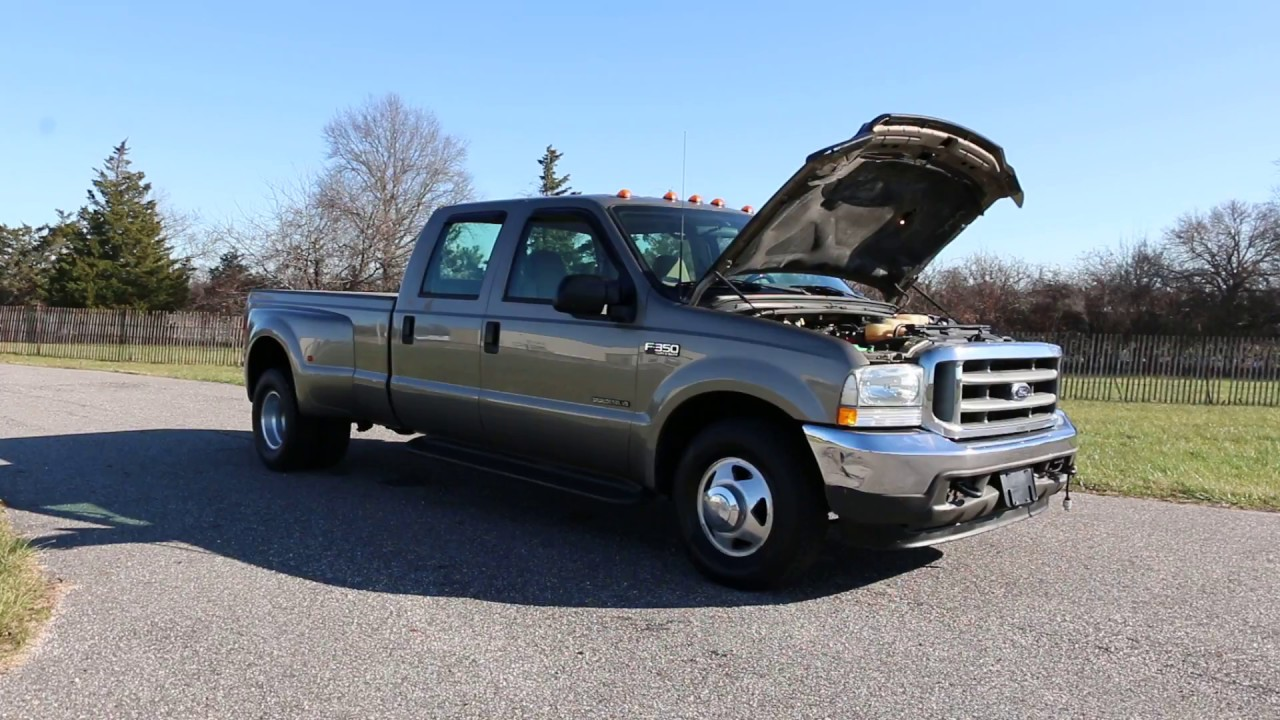 2002 Ford F350 Crew Dually 2wd For Sale 7 3l Diesel Low Mileage Tow