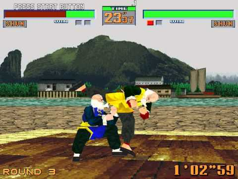 Virtua Fighter 2 Playing with Shun Part 1