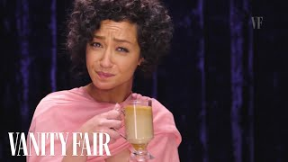 Repeat youtube video Ruth Negga Shows You How to Make an Irish Coffee | Vanity Fair