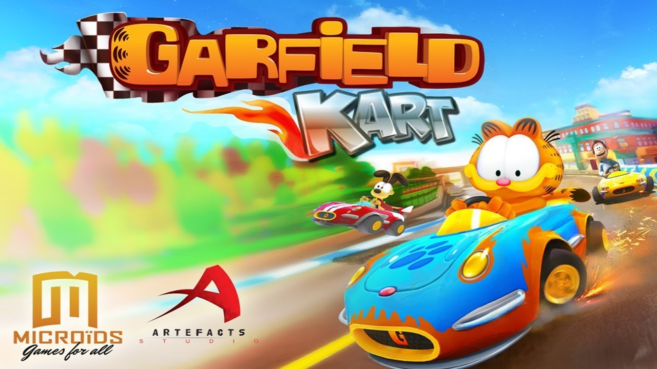Mario kart rip off garfield kart why the hell did i for Coupe miroir mario kart wii
