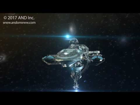 3D Futuristic military spacecraft in deep space travel - 2017 Animations by AND.