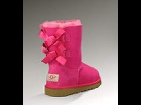 black and pink uggs