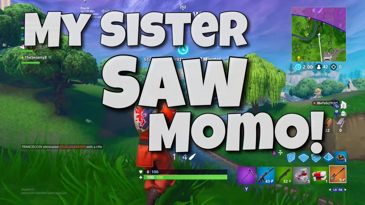 so is momo actually in fortnite seeing momo in fortnite battle royale - momo playing fortnite