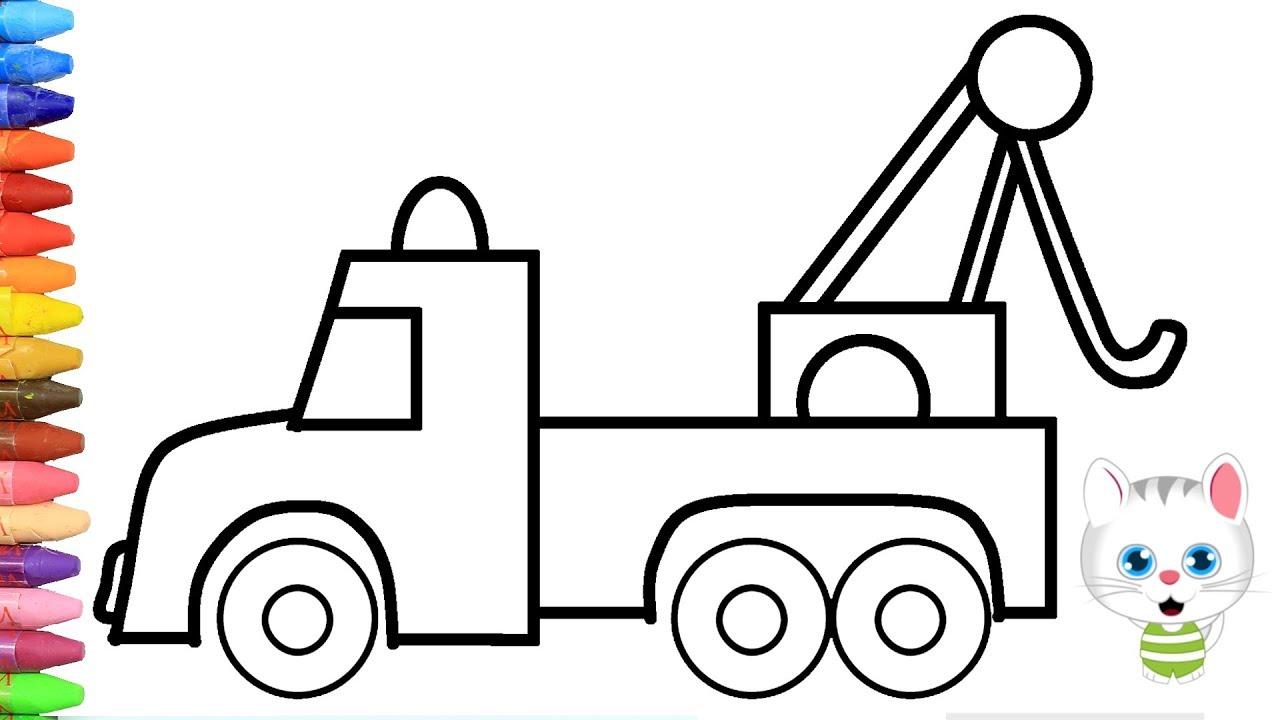 الرسم والتلوين للأطفال كيفية رسم سيارة سحب الشاحنة مع ميمي