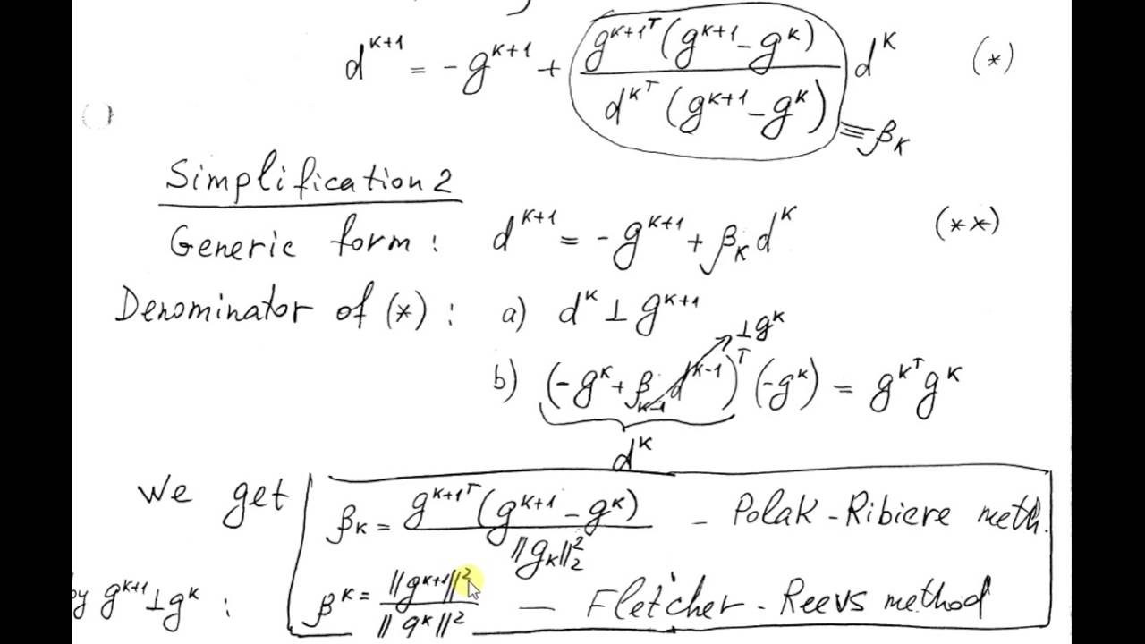 Conjugate Direction Methods in Optimization
