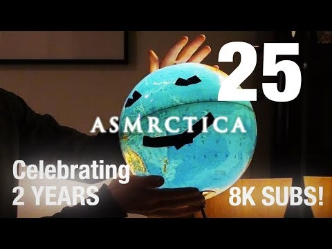 ASMR Earth Globe Soft Spoken Show And Tell - Part 2 (Nearly
