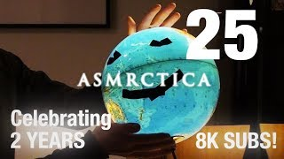 ASMR Earth Globe Soft Spoken Show And Tell - Part 2 (Nearly 1 hour)