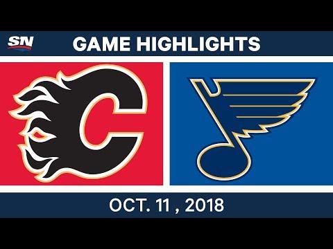 NHL Highlights | Flames vs. Blues - Oct. 11, 2018
