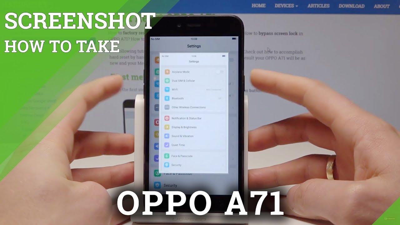 Resetting Videos OPPO A71 - HardReset info